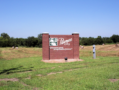 Pawnee City Entrance